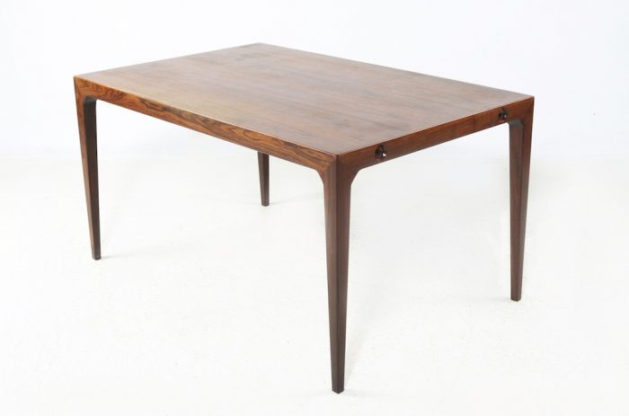 Severin Hansen Jr. Mid-Century Modern Rosewood Dining Table For Haslev Mobelfabrik |