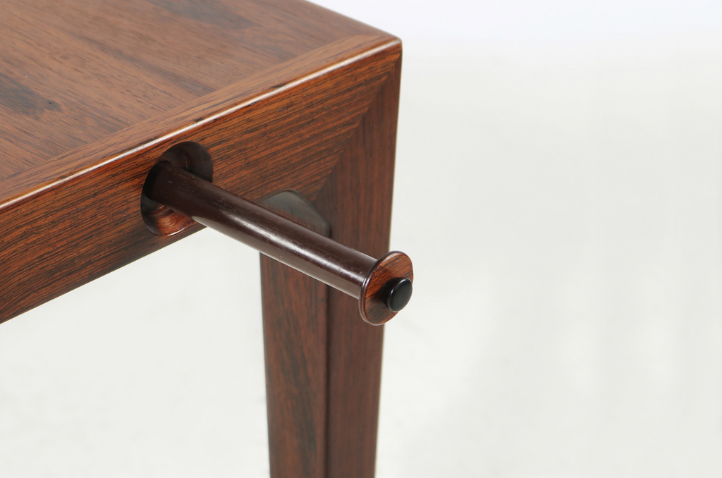 Severin Hansen Jr. Mid-Century Modern Rosewood Dining Table For Haslev Mobelfabrik | 5