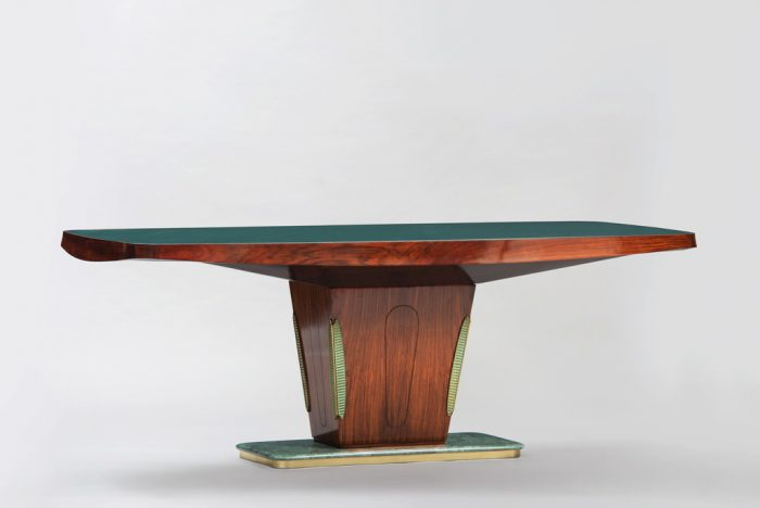 Vittorio Dassi Rosewood and Marble Dining Table