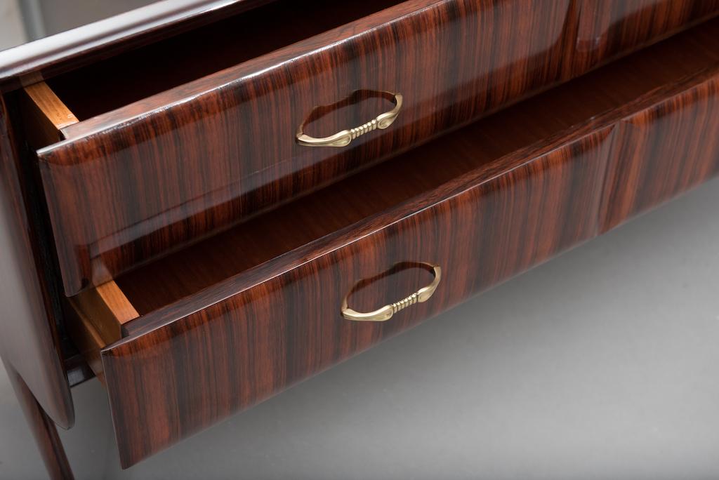 Rosewood Italian mid-century chest | 6