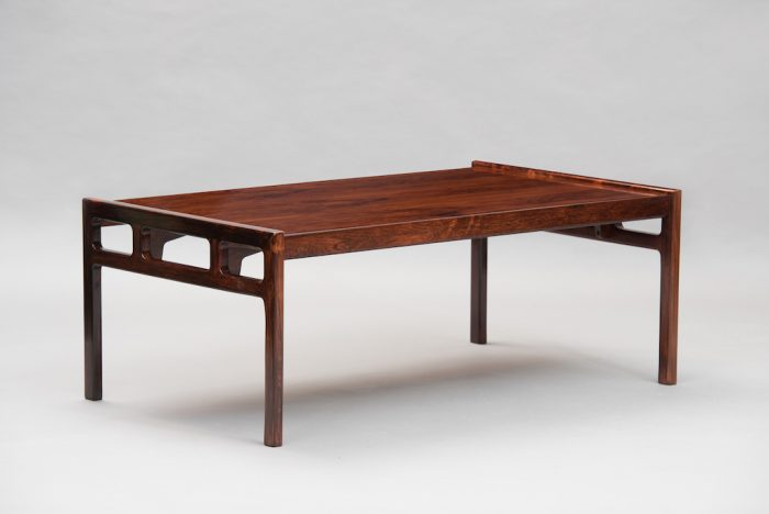Rosewood mid century modern coffee table