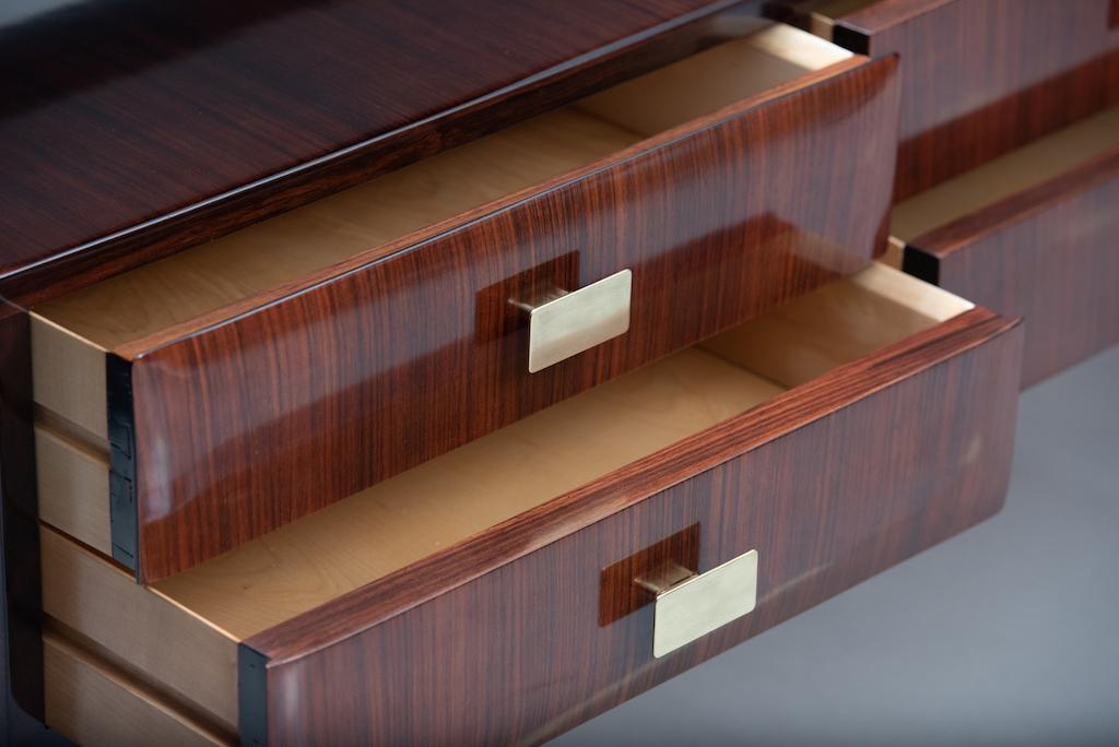 Italian mid-century rosewood chest | 4