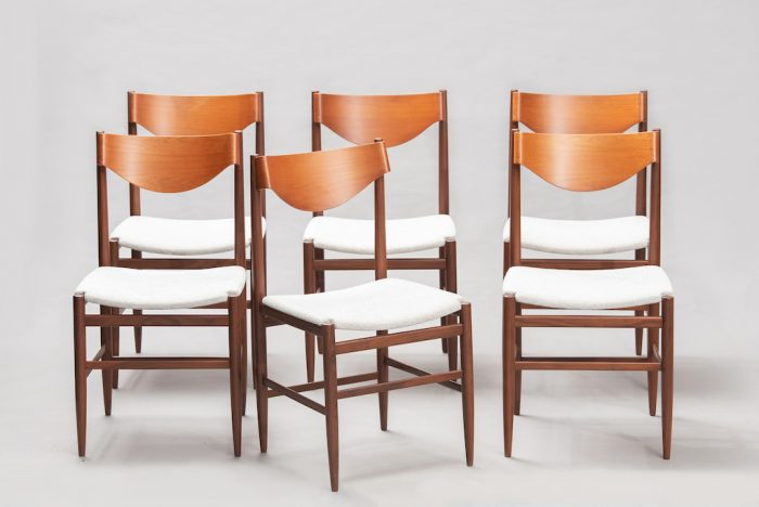 Gianfranco Fratinni dining chairs for Cassina