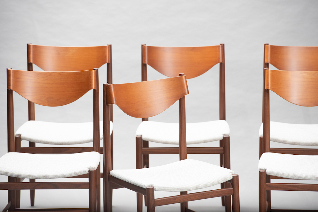 Gianfranco Fratinni dining chairs for Cassina | 10