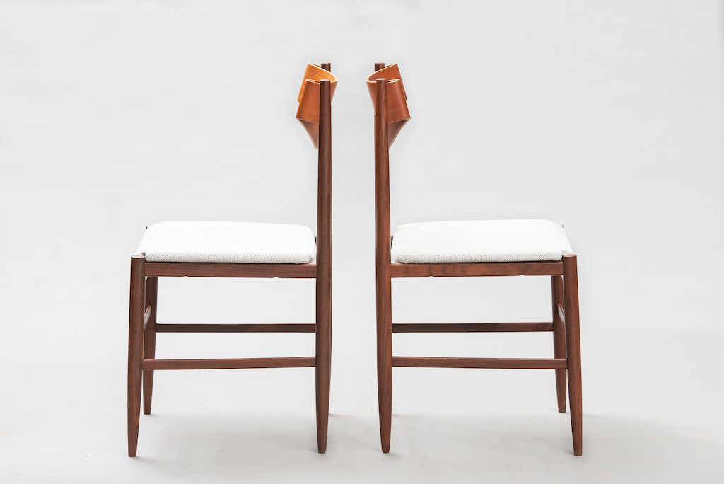 Gianfranco Fratinni dining chairs for Cassina | 2