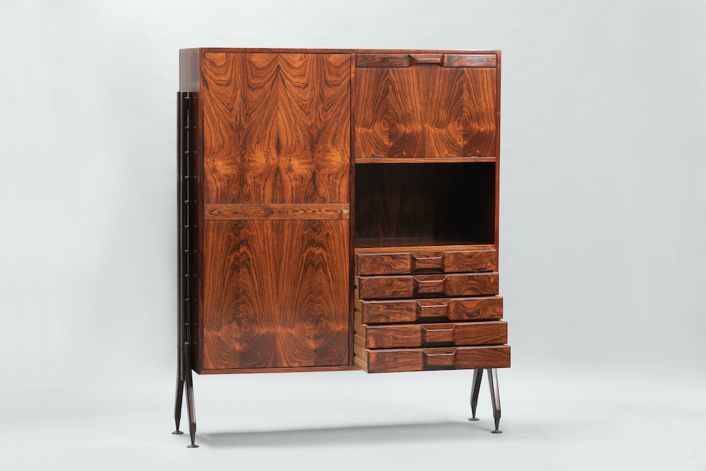 Rosewood Cabinet Franco Albini Style   1