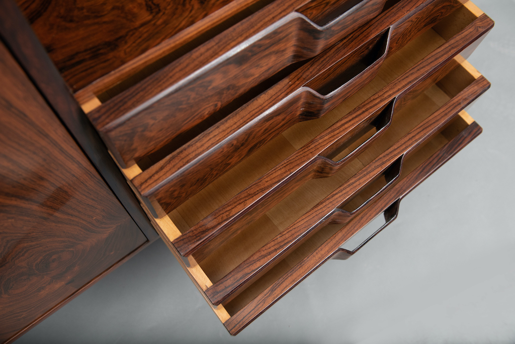 Rosewood Cabinet Franco Albini Style   10
