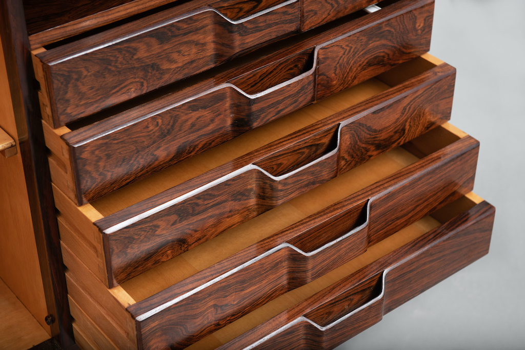 Rosewood Cabinet Franco Albini Style   13