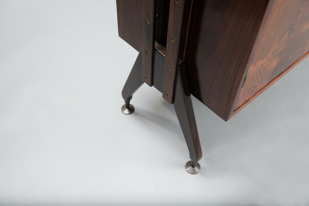 Rosewood Cabinet Franco Albini Style   14