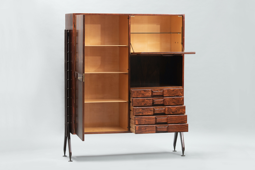 Rosewood Cabinet Franco Albini Style   2