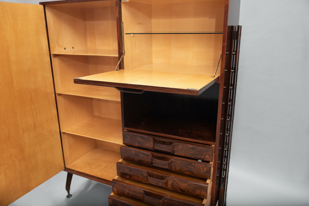 Rosewood Cabinet Franco Albini Style   4