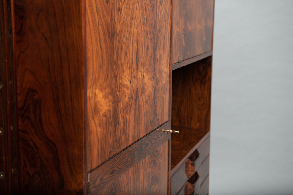 Rosewood Cabinet Franco Albini Style   5