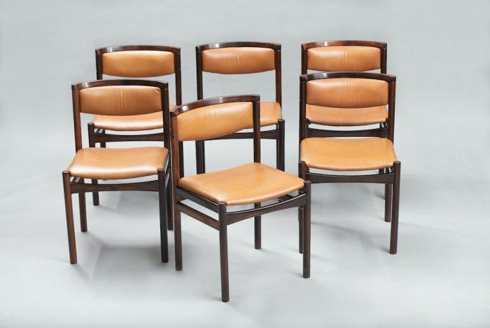 Sax Møbelfabrik rosewood dining chairs