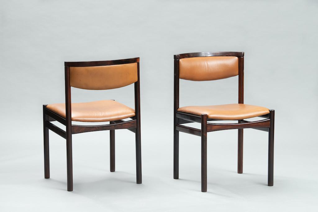 Sax Møbelfabrik rosewood dining chairs | 1