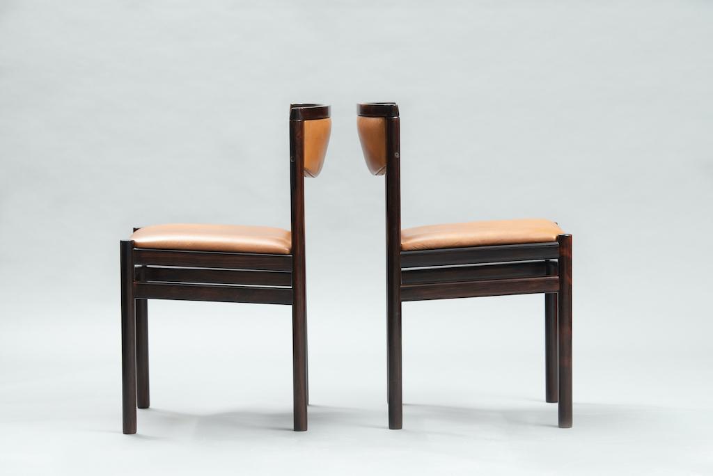 Sax Møbelfabrik rosewood dining chairs | 2