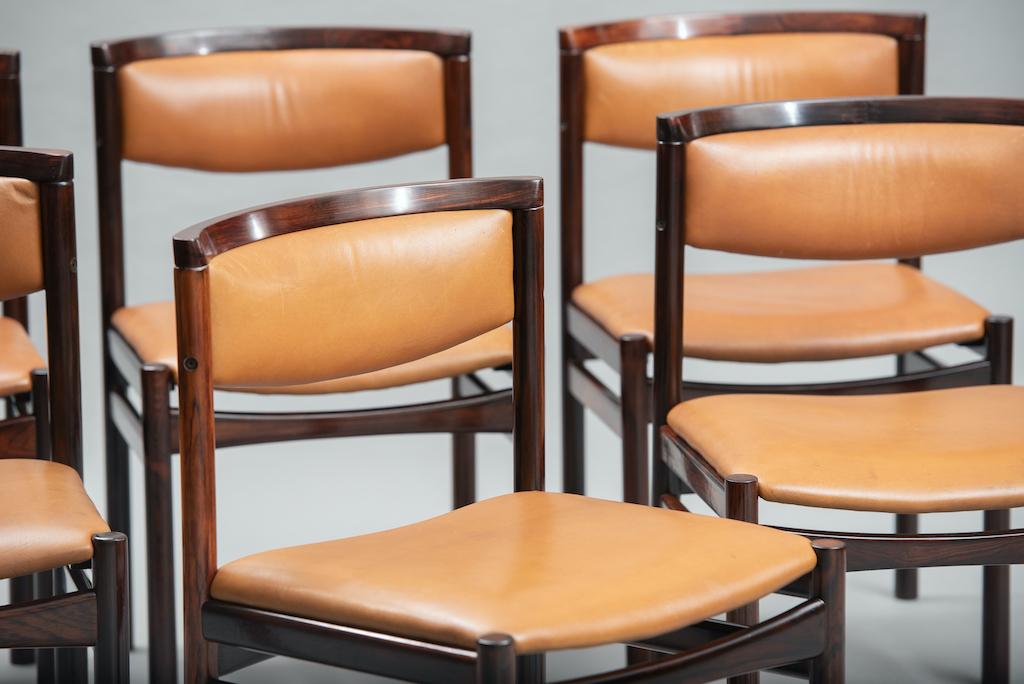 Sax Møbelfabrik rosewood dining chairs | 4