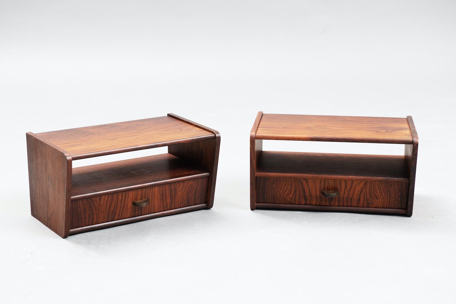 Rosewood Danish nightstands