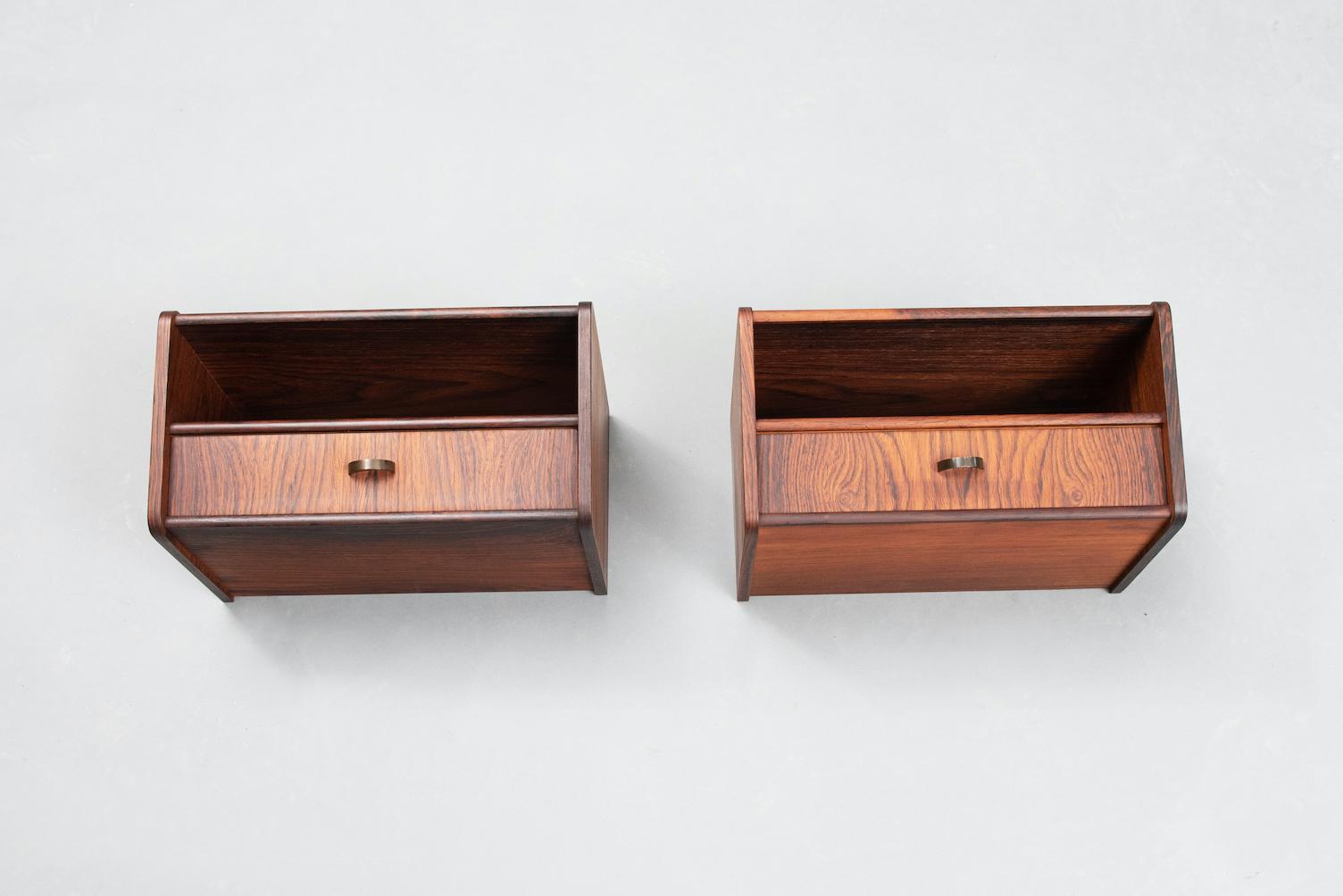 Rosewood Danish nightstands | 1