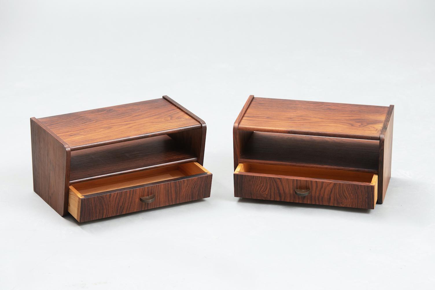 Rosewood Danish nightstands | 2