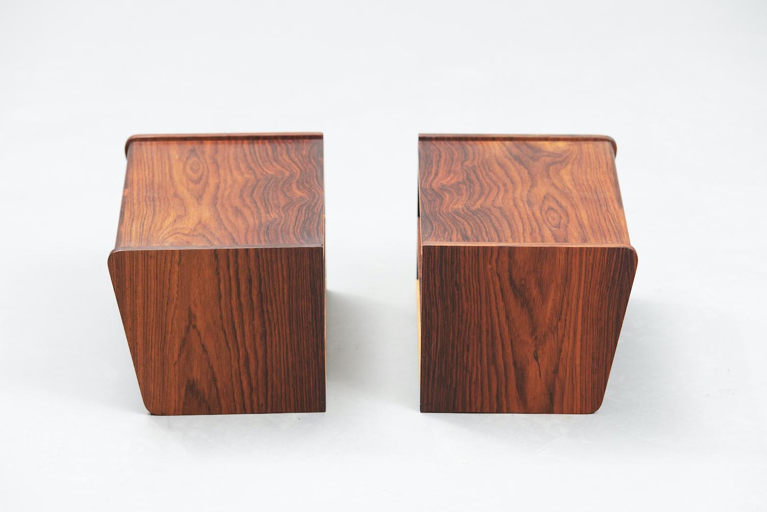 Rosewood Danish nightstands | 3