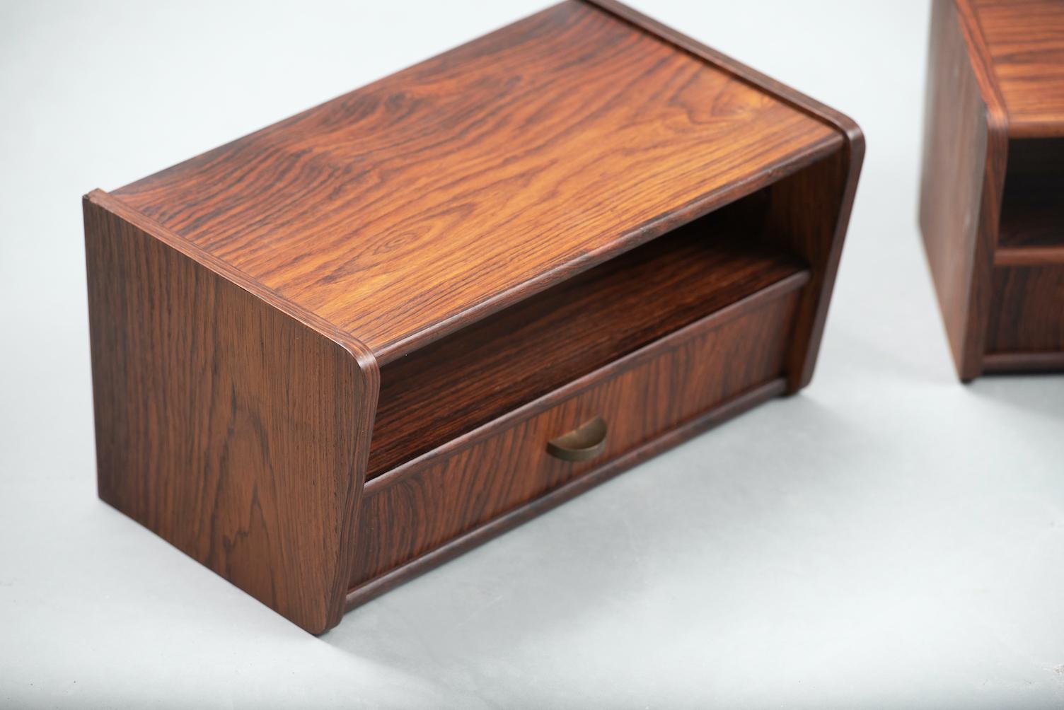 Rosewood Danish nightstands | 4