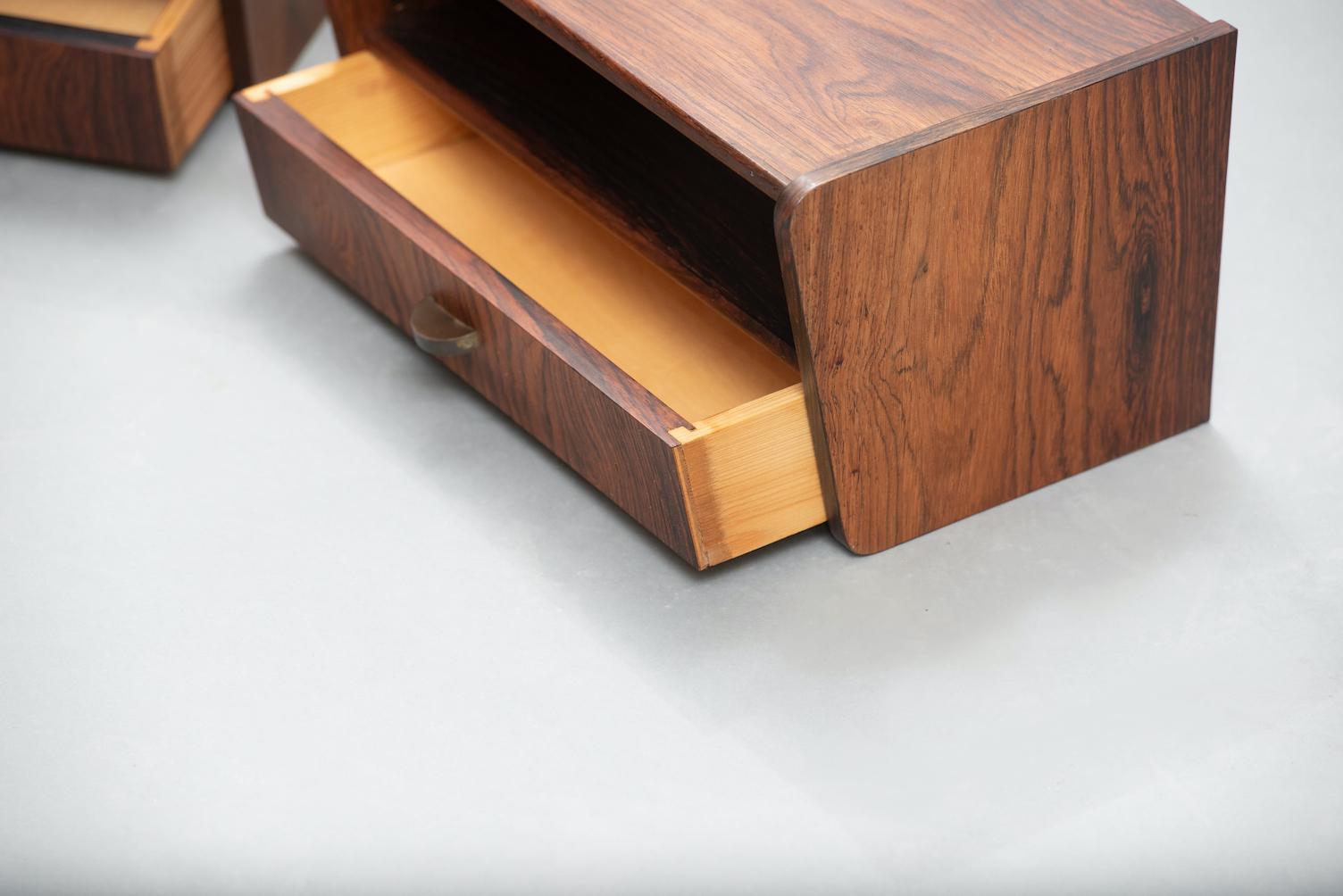 Rosewood Danish nightstands | 5