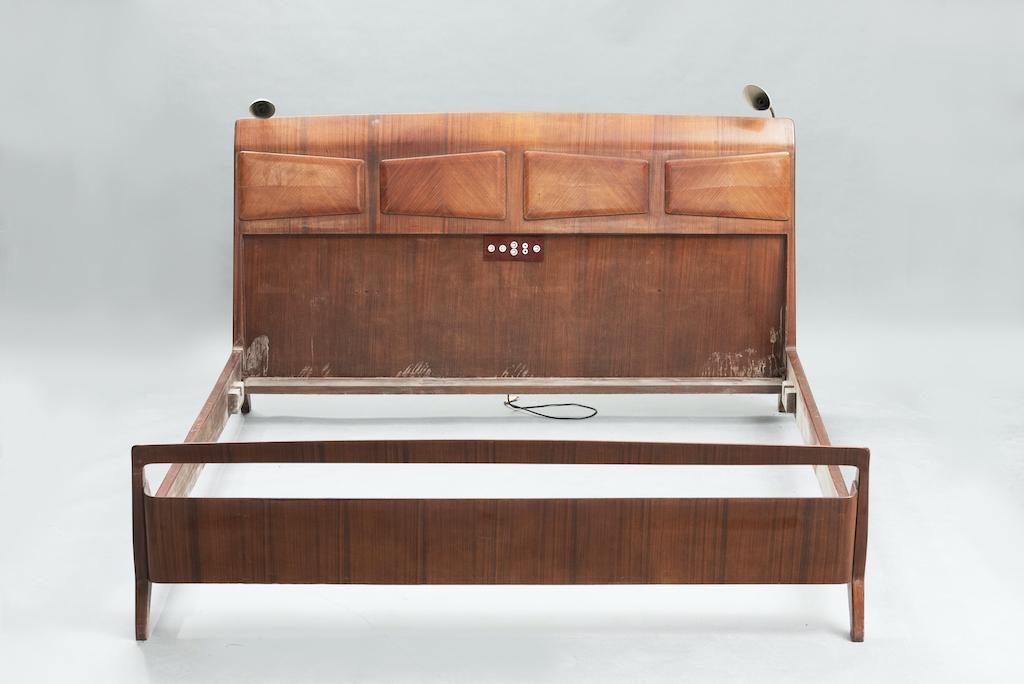 Mid Century Rosewood Italian Bed