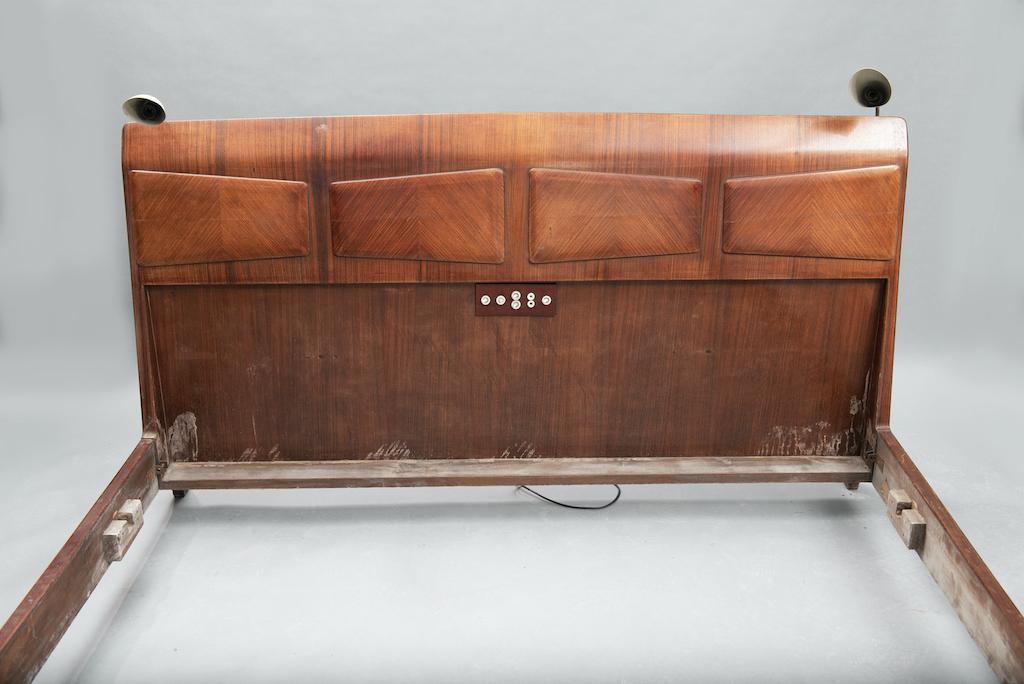 Mid Century Rosewood Italian Bed | 1
