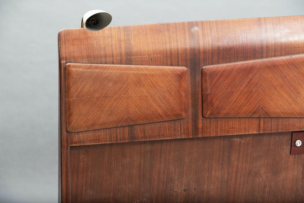 Mid Century Rosewood Italian Bed | 4