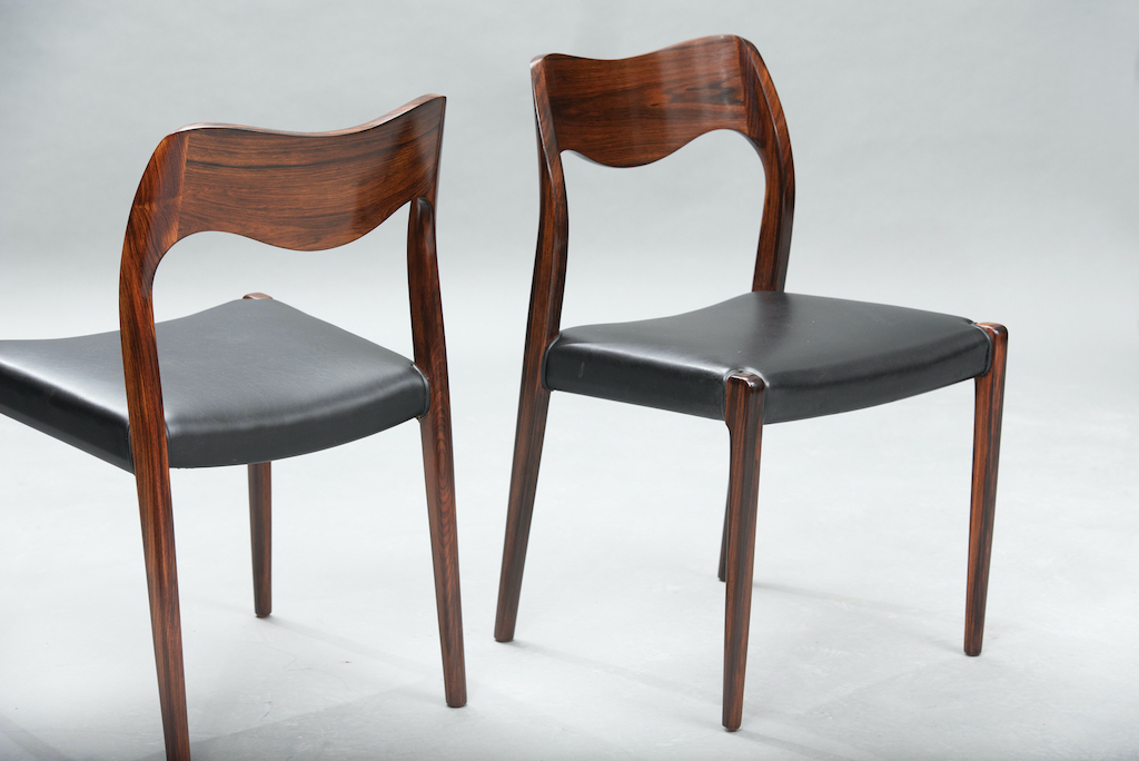 N.O. Moller 71 model dining chairs