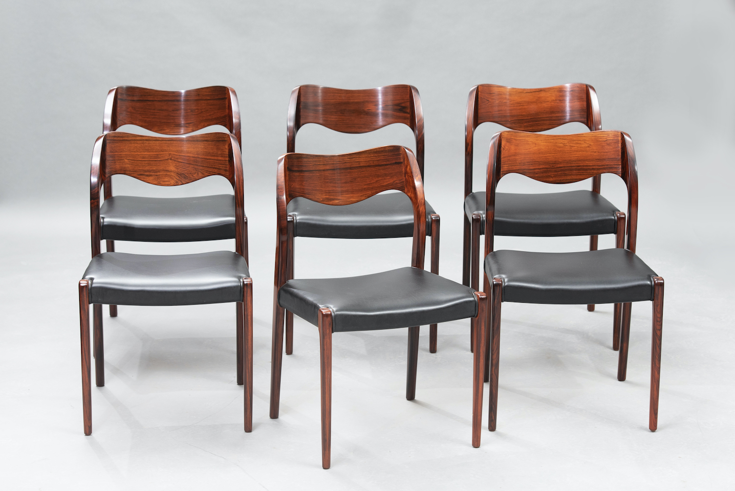 N.O. Moller 71 model dining chairs | 4