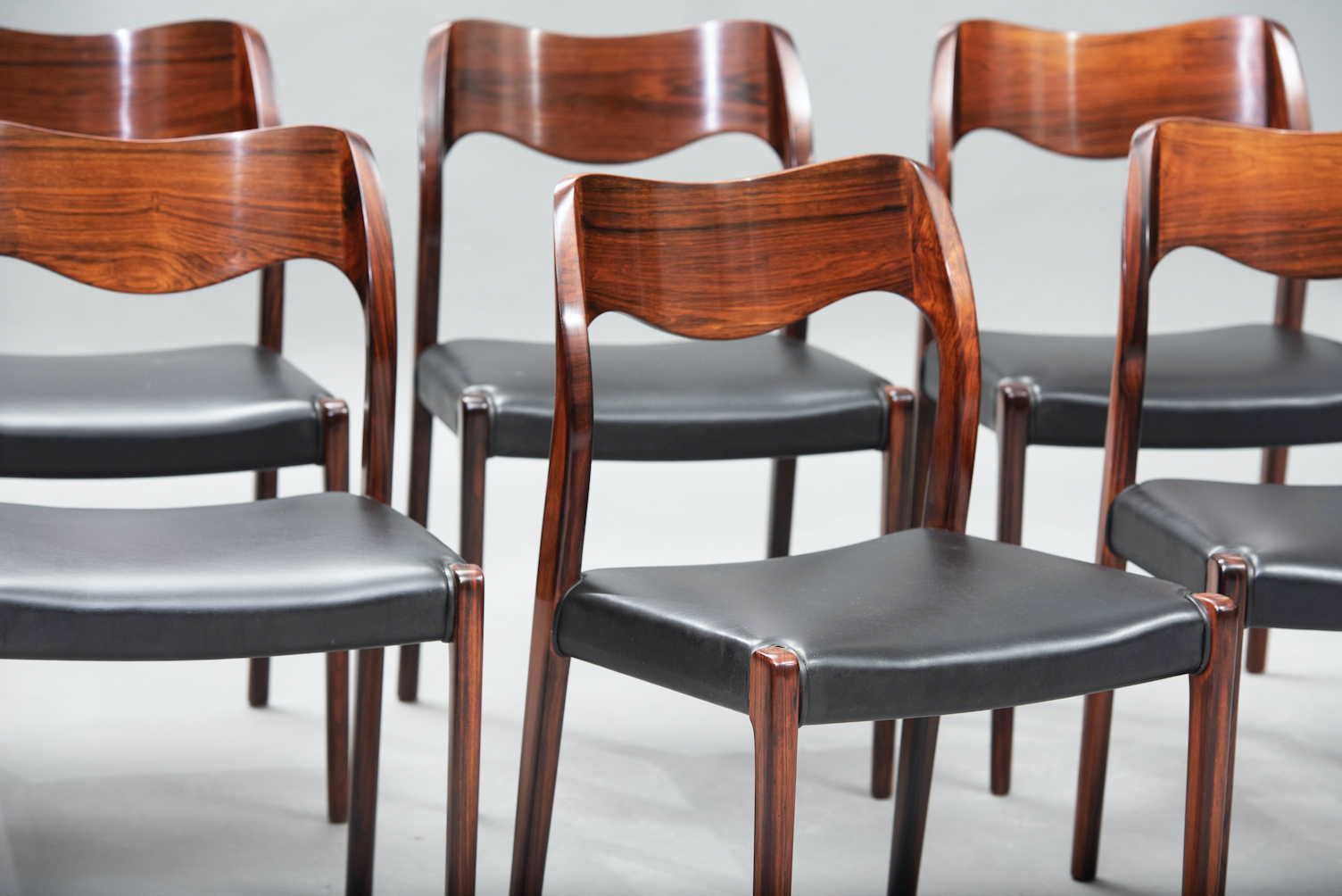N.O. Moller 71 model dining chairs | 7